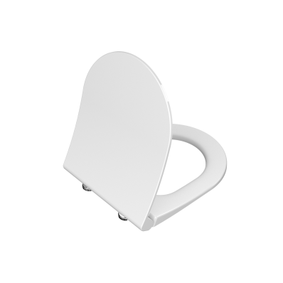 Universal Slim Wc Seat Model 2 - Round Form  (Duroplast, Soft-Closing, Detachable Metal Hinge, Top Fixing)