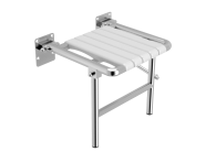 320-3016 - Hinged Arm Shower Seat (with Support Leg)