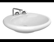4279B403-0041 - Istanbul Countertop Washbasin, Flat, 60 cm, White