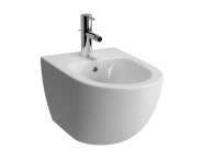 4338B003-0288 - Sento Wall-Hung Bidet with Tap Hole, with Side Holes