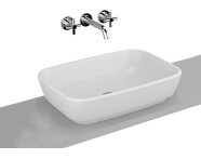 4399B003-0016 - Shift Countertop Washbasin, 55x38 cm without Tap Hole, without Overflow Hole