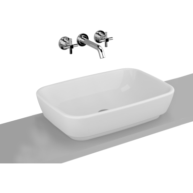 Shift Countertop Washbasin, 55x38 cm without Tap Hole, without Overflow Hole