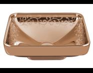4441B073-2100 - Water Jewels Square Bowl, 40cm