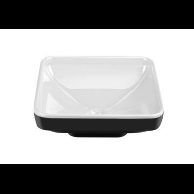 Water Jewels Square Bowl, 40 Cm, Pearl White U0026 Black