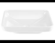 4442B003-1361 - Water Jewels Dikdörtgen Tezgah Üstü Lavabo, 60 cm