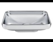 4442B071-0016 - Water Jewels Dikdörtgen Tezgah Üstü Lavabo, 60 cm