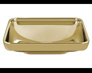 4442B072-0016 - Water Jewels Dikdörtgen Tezgah Üstü Lavabo, 60 cm