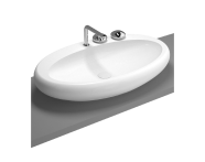 4447B403-0041 - Istanbul Countertop Washbasin, 85 cm, White