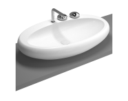 4447B403-0871 - Oval çanak lavabo, 85 cm