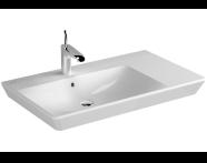4453B003-0001 - T4 Asymmetric WashBasin, 80cm