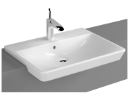 4460B003-0001 - T4 Recessed WashBasin, 60cm One Tap Hole, with Overflow Hole