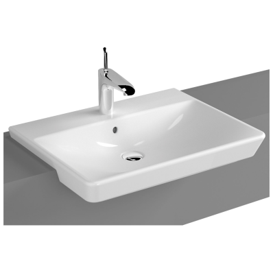T4 Semi-Recessed Washbasin, 60 cm