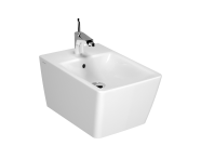 4466B401-0288 - Frame Wall-hung bidet, 54 cm, Without side holes, matte white
