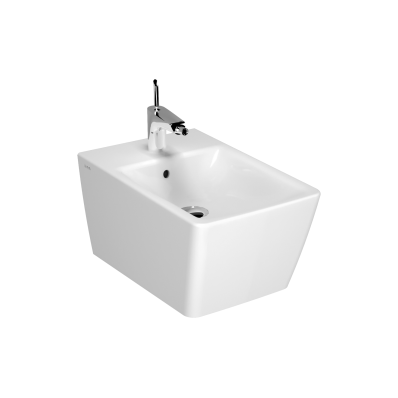Frame Wall-hung bidet, 54 cm, Without side holes, matte white