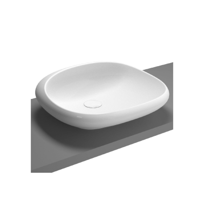 Istanbul Countertop Washbasin, 54 cm, White
