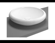 4522B403-0016 - Çanak lavabo, 50 cm Armatür deliksiz, su taşma deliksiz, sifon dahil