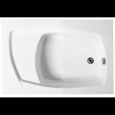 Ida with Seat 105x75 cm Rectangular Plain Bathtub