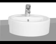 5146B003-0001 - M-Line Round Semi-Recessed Basin, 45 cm