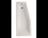 52760001000 - Neon 170x75x50 cm Space Saver Bathtub, Left