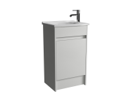 52978 - S50 Compact Floor-Standing Washbasin Unit Including Basin, 1-Hole, 50 cm, High Gloss White