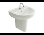 5301L003-0999 - S50 Round Washbasin, 55 cm