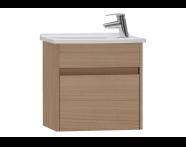 53028 - S50 + Narrow Washbasin Unit, 50 cm, Golden Cherry, Left