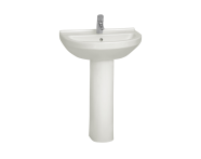 5302L003-0001 - S50 WashBasin, 60cm with Middle Tap Hole, with Side Holes