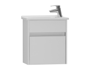 53031 - S50 + Narrow Washbasin Unit 45 cm, White High Gloss, Right