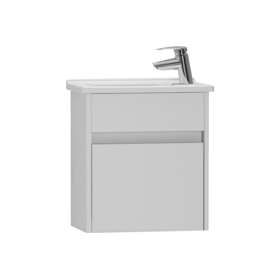 S50 Compact Washbasin Unit Including Basin, 45 cm, High Gloss White, Right