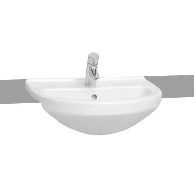 S50 Round Semi-Recessed Basin, 55 cm