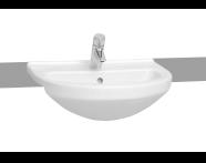 5307B095-0001 - S50 Semi Recessed Basin, 55 cm