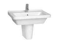 5311L003-0001 - S50 WashBasin, 65cm with Middle Tap Hole, with Side Holes