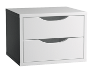 53202 - Gala Classic Tall Unit Accessory (3) - 2 Drawers, Matte White