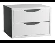 53202 - Gala Classic Boy dolabı aksesuarı, 2'li çekmece, Parlak Beyaz