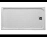 53250005000 - Kimera 170x90 cm Dikdörtgen Flat(Ayaklı ve Panelli) , Ayak, Sifon