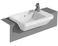 5340B003-0029 - S50 Compact Square, Semi-Recessed Basin, 55 cm