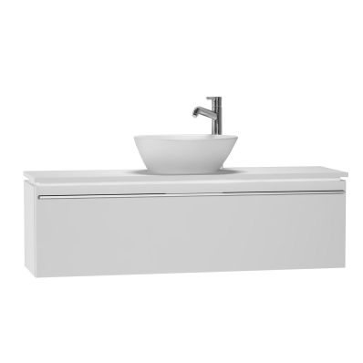 System Fit Washbasin Unit, 120x34x37 cm, Middle, High Gloss White