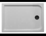 53800005000 - Kimera 120x90 cm Dikdörtgen Flat(Ayaklı ve Panelli) , Ayak, Sifon