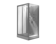 54150011000 - Cubido Compact System 120x90 cm, Flat Wall, System 2