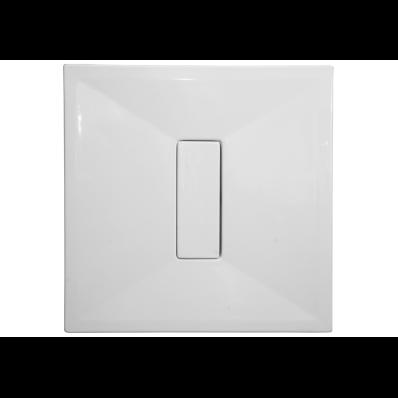 Slim 90x90 cm Kare Flat(Gömme), Krom Gider Kapağı, Sifon