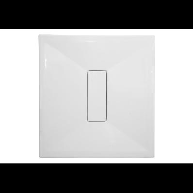 Slim 90x90 cm Square Flat, Acrylic Waste Cover