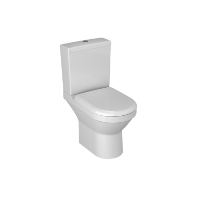 S50 Compact Close-Coupled WC Pan, Open Back