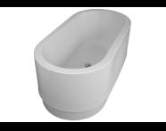 54310009000 - 4 Life Cocoon 160x80 cm  Oval Aqua Soft