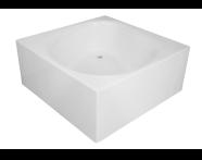 54340001000 - 4 Life Liquid Space Square 140x140 cm, Leg, Pop-Up Waste&Overflow Set, Panel