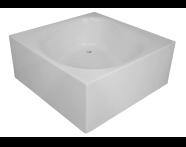 54340007000 - 4 Life Liquid Space 140x140 cm Kare, Ayak, Panel, Kumandalı Sifon
