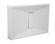 54510010000 - Slim 100x80 cm Dikdörtgen Monoblok, Krom Gider Kapağı, Sifon