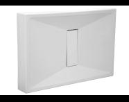 54530010000 - Slim 120x80 cm Dikdörtgen Monoblok, Krom Gider Kapağı, Sifon