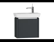54535 - T4 Compact Washbasin Unit 50cm (Left), Matte Grey