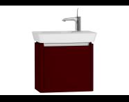 54536 - T4 Compact Washbasin Unit 50cm (Left), Matte Burgundy