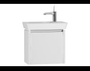 54540 - T4 Compact Washbasin Unit 50cm (Right), Matte White